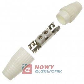 Łącznik antenowy gn-gn plastik białe