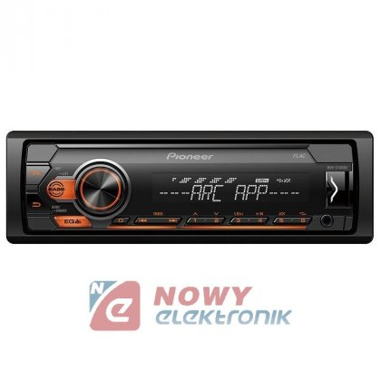 Radio samoch.PIONEERMVH-S110UBA USB pomarańcz.