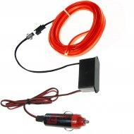 Pasek Neon samoch. 3m czerwo 24V EL WIRE światłowód do wnętrza samochodu