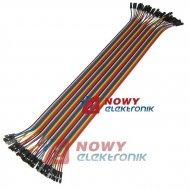 Kabel do płytek styk.40p ż/ż połączeniowe żeńsko-żeński 20-30cm