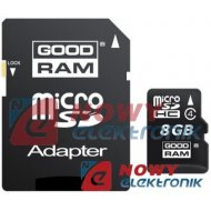 Karta pamięci micro SDHC 8GB God CLASS 4 Goodram z adapt. SD