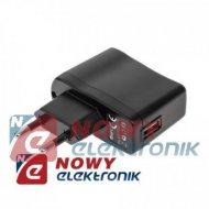 Ładowarka USB siec. M-LIFE 0,5A 5V 500mA  zasilacz USB