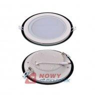 Lampa panel LED Tiki 12W ciepły (*) okrągły biały 230VAC 3000K