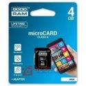 Karta pamięci micro SDHC 4GB Go Class 4 / Goodram  z adapt. SD