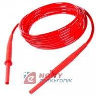 Przewód pom.1,8m czer.ekw.10kV z wtykami bananowymi SONEL kabel