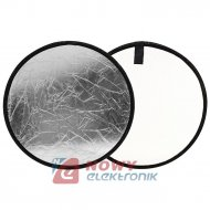 Blenda 2w1 okrągła srebrno-biała 82  FOTO