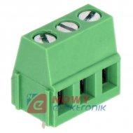 Listwa ARK DG128-5.0-03P14 kąt r-5 3pin zielona