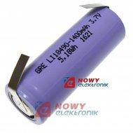 Akumulator do pak.L18500 3,7V ZB (z blaszk.) LI-JON(ION) 1400mAh 18X49mm