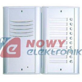 Panel na 10 lokatorów ALU CYFRAL Centrala domofonowa kompletna