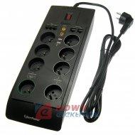 Filtr komp CyberPower SB0801PRG- B-FR FR8 USB listwa przeciwprzepięciowa