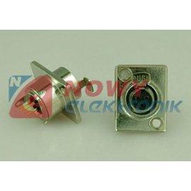 Gniazdo mikrof.mini 3pin mont. metal.  mini XLR