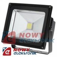 Halogen LED 30W 6400K czarny ci reflektor,naświetlacz