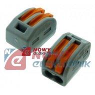 Zacisk wago 222-412 2x(0,08-4mm2 linka i drut