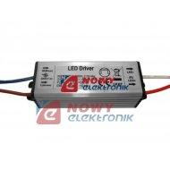 Zasilacz ZI LED prąd. 600mA 20W 21-35V metal CC Driver