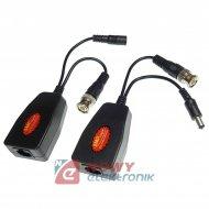 Transformator Video HD 5MP 2szt kpl. z ochronnikiem udarowym