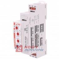 Przekaźnik czasowy RPC-1IP-A230 1s10dni 24VDC 16A/230VAC RELPOL