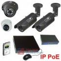 Zestaw monitoringu 4 kamery IP 1080 Rejestrator, HDD 1TB., Switch POE
