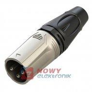Wtyk mikrof.3 pin RX3M-NS XLR ROXTONE (wtyk męski)