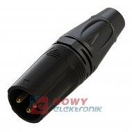 Wtyk mikrof.3 pin RX3M-BS XLR ROXTONE (wtyk męski)