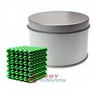 Neocube 5mm 216szt N35 Zielone NEPOWER magnes kulki magnetyczne klocki