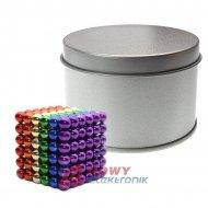 Neocube 5mm 216szt N35 Kolory NEPOWER magnes kulki magnetyczne klocki