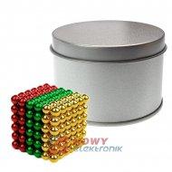 Neocube 5mm 216szt N35 RED-GOLD- GREEN kulki magnetyczne klocki NEPOWER