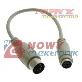 Kabel PS2 przej.PS2/PC MD6F-D5M 0,2m gn.PS2-wt.Din5