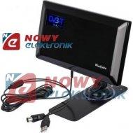 Antena TV DVB-T pokojowa SLIM aktywna USB z przyssawką