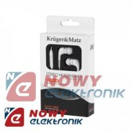 Słuchawki douszne K&M KMP01-M z mikrofonem Kruger&Matz 3.5mm