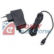 Zasilacz siec. z wt. mini USB do GPS, nawigacji 1.5A  ładowar.