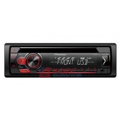 Radio samoch.PIONEERMVH-S110UB USB czerwone