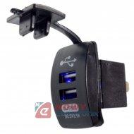 Ładowarka USB 12-24V /5V 3.1A BLUE