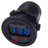 Wskaźnik napięcia /Voltomierz 6-30V LED BLUE  okrągły