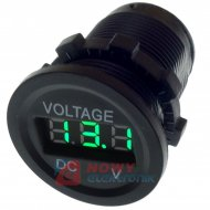 Wskaźnik napięcia /Voltomierz 6-30V LED GREEN  okrągły