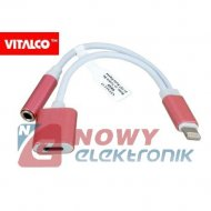 Adapter Audio do IPHONE 2in1 JACK3.5mm z ładow. DSP516 Vitalco