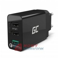 Ładowarka USBx3 siec.QC3.0 GREEN CELL quick charge 6,4A