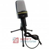 Mikrofon z uchwytem SF-920      stydyjny JACK 3,5mm