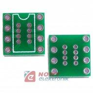 Adapter DIP8 na SO8 druk dwustronny (bez pinów)