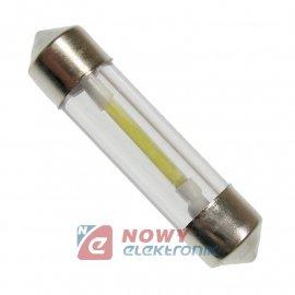 DIODA LED C5W 36mm filament szkl Biała 12V