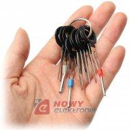 Klucze do demontażu pinów styków wyjmaki konektorów Zestaw 11cz.--40780