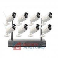 Zestaw monitoringu bezprzew1.3M 8-kanał.WI-FI kamer grafit