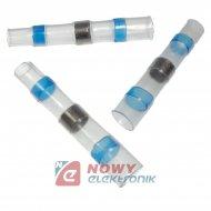 Złączka z cyną 2,50mm2 niebieska szybkozłączka wodoodpor. rurka z klejem