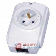 Filtr gniazdo przeciwprzep.PP1G +RJ11/RJ45 /zabezpiecz