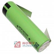 Akumulator do pak.NCR18650PF2.9A 3,7V z blaszkami LI-ION 2900mAh 64x18