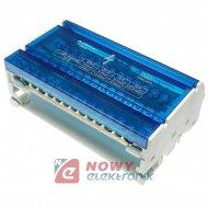 Blok Rozdzielczy BRZ-4x15 DIN TH elektryczy