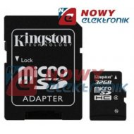 Karta pamięci micro SDHC 32GB K KINGSTON Class 4 z adapt.SD