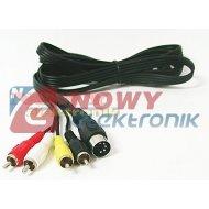 Kabel DIN-4*RCA 1,2-1,5m DIN5 (545)