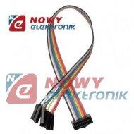 Kabel IDC10 żeń/10xBLS(1p) 40cm połączeniowe do płytek stykowych