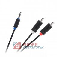 Kabel jack 3,5st-2*RCA 3m stand. Cabletech standard