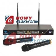 Mikrofon bezprzew. UHF SE-2022 AZUSA dwukanałowy